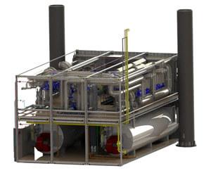БМКУ тепловой мощностью 7 МВт. Верхнее строение ЛСП-2 на месторождении им. В. Филановского